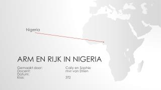 Arm en rijk in Nigeria