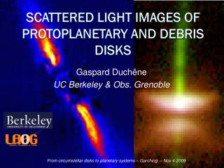 Scattered light images of protoplanetary and debris disks