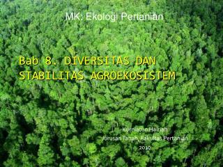 Bab 8. DIVERSITAS DAN STABILITAS AGROEKOSISTEM