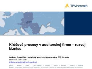 Kľúčové procesy v audítorskej firme – rozvoj biznisu