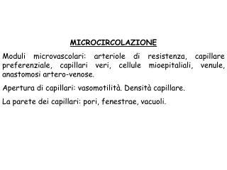 MICROCIRCOLAZIONE