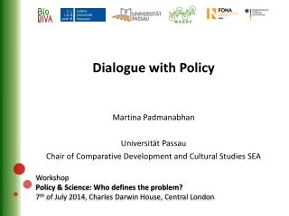 Workshop Policy & Science: Who defines the problem?