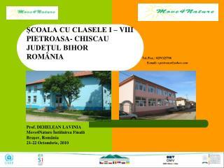 ŞCOALA CU CLASELE I – VIII PIETROASA - CHISCAU  JUDEŢUL BIHOR ROMÂNIA Tel./Fax.: 0259325798