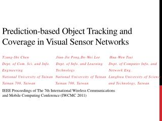 Prediction-based Object Tracking and Coverage in Visual Sensor Networks