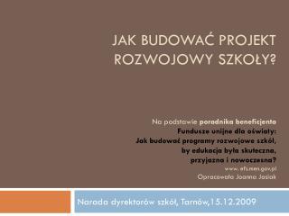 Narada dyrektorów szkół, Tarnów,15.12.2009