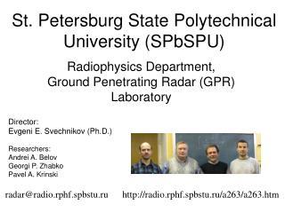 St. Petersburg State Polytechnical University (SPbSPU)