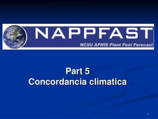 Part 5  Concordancia climatica