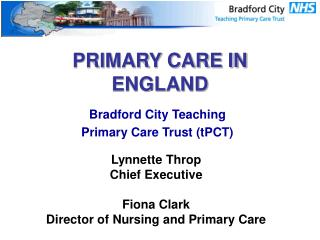 PRIMARY CARE IN ENGLAND