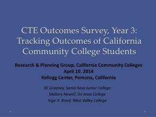 CTE Outcomes Survey, Year 3: Tracking Outcomes of California Community College Students
