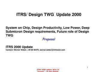 ITRS/ Design TWG  Update 2000