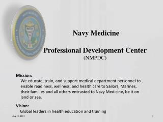Navy Medicine Professional Development Center (NMPDC)