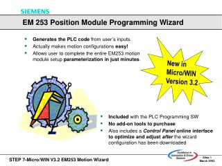 Included  with the PLC Programming SW  No add-on tools to purchase