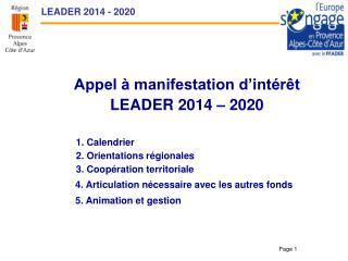 LEADER 2014 - 2020