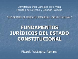 �DIPLOMADO DE DERECHO PROCESAL CONSTITUCIONAL�