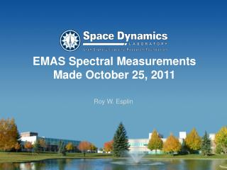 EMAS Spectral Measurements  Made October 25, 2011