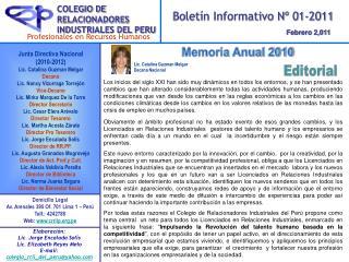 COLEGIO DE RELACIONADORES INDUSTRIALES DEL PERU
