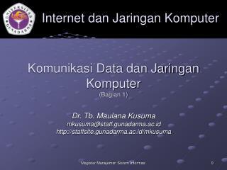 Komunikasi Data dan Jaringan Komputer (Bagian 1)