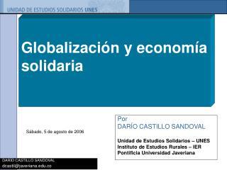 Globalización y economía solidaria