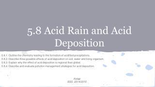 5.8 Acid  Rain and Acid Deposition