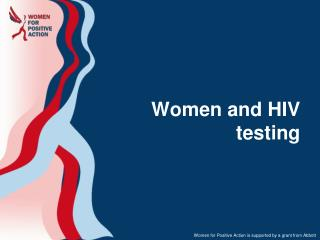 Women and HIV testing