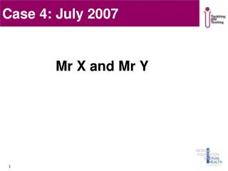 Mr X and Mr Y