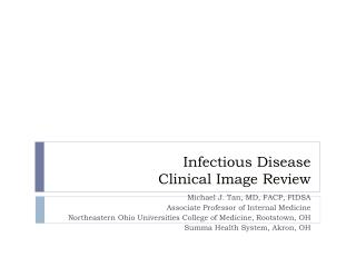 Infectious Disease Clinical Image Review