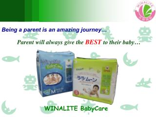 Being a parent is an amazing journey� Parent will always give the  BEST  to their baby�