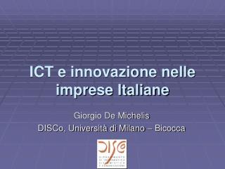 ICT e innovazione nelle imprese Italiane