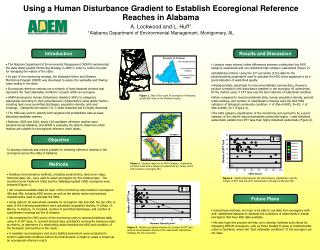 Using a Human Disturbance Gradient to Establish Ecoregional Reference Reaches in Alabama