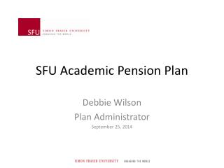 SFU Academic Pension Plan