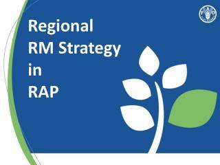 Regional RM Strategy in RAP