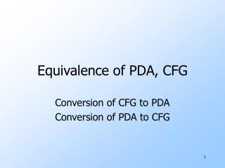Equivalence of PDA, CFG