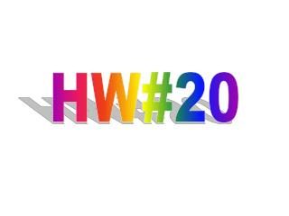HW#20
