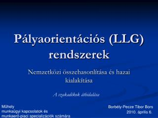 Pályaorientációs (LLG) rendszerek