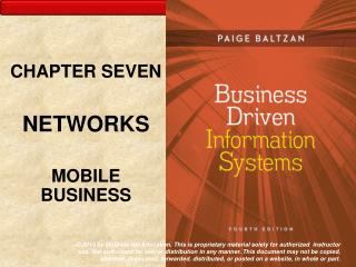 CHAPTER SEVEN NETWORKS MOBILE BUSINESS