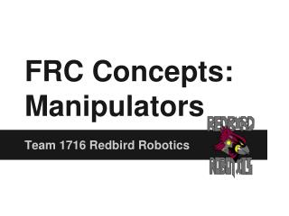 FRC Concepts: Manipulators