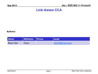 Link-Aware  CCA