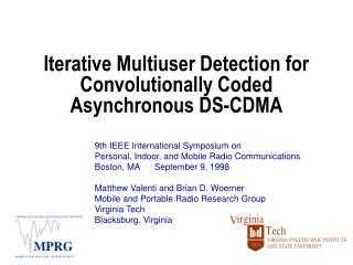 Iterative Multiuser Detection for Convolutionally Coded Asynchronous DS-CDMA