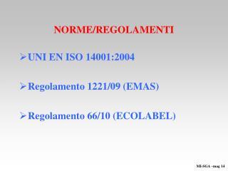 NORME/REGOLAMENTI
