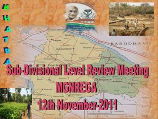 Sub-Divisional Level Review Meeting MGNREGA  12th November-2011