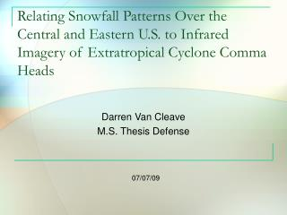 Darren Van Cleave M.S. Thesis Defense