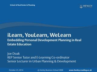 iLearn, YouLearn, WeLearn