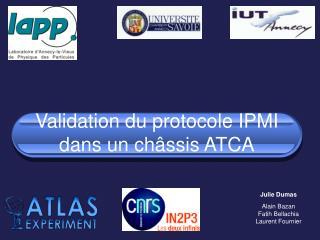Validation du protocole IPMI dans un châssis ATCA