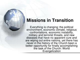 Missions in Transition