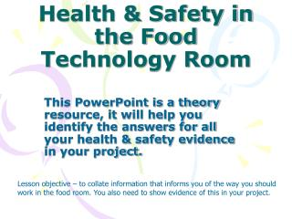 Health & Safety in the Food Technology Room