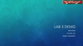 Lab 3 Demo