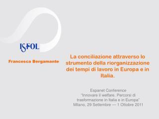 """Espanet Conference """"Innovare il welfare. Percorsi di trasformazione in Italia e in Europa"""""""