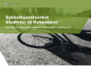 Sykkelbynettverket Studietur til K�benhavn