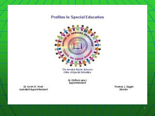 The Purpose of the Special Education Program Profiles