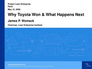 Why Toyota Won  What Happens Next